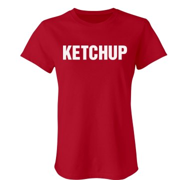 Ketchup Couples Shirt Junior Fit Bella Crewneck Jersey Tee