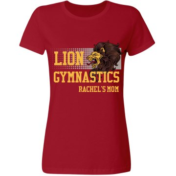 Lion Gymnastics Misses Relaxed Fit Gildan Ultra Cotton Tee