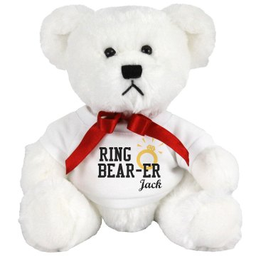 Customize Ring Bear-er Medium Plush Teddy Bear
