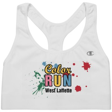 Color Run Alo Ladies' Mesh Back Sports Bra