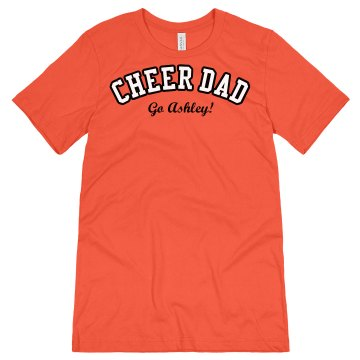 Cheer Dad Unisex Canvas Jersey Tee