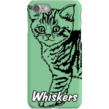 Kitty Cat iPhone Case Plastic iPhone 5 Case Black
