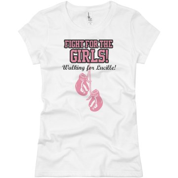 Fighting Against Cancer Junior Fit Basic Bella Favorite Tee