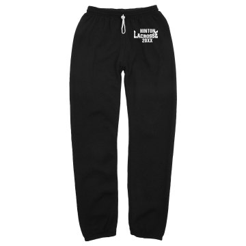 Lacrosse Sweats Unisex Gildan Ultra Blend Open Bottom Pocketed Sweatpants