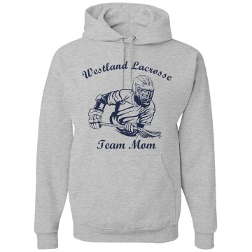 Westland Lacross Team Mom Unisex Gildan Heavy Blend Hoodie