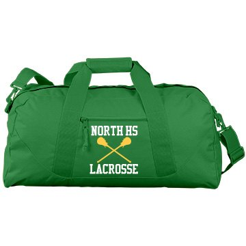 North HS Lacrosse Port & Company Large Square Duffel Bag