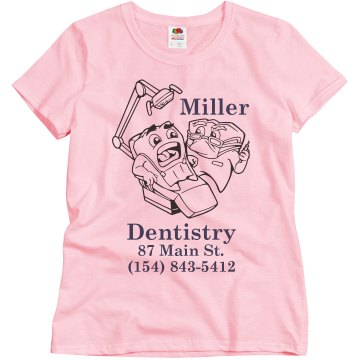 Miller Dentristry  Misses Relaxed Fit Basic Gildan Ultra Cotton Tee