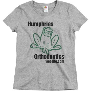 Humphries Orthodontics Misses Relaxed Fit Basic Gildan Ultra Cotton Tee