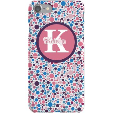 Flower Color Dots Case Plastic iPhone 5 Case White