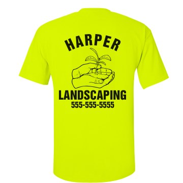 Landscaping Business Tee Unisex American Apparel Neon Crew Neck Tee