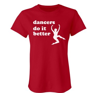 Dancers Do It Best Junior Fit Bella Sheer Longer Length Rib Tee