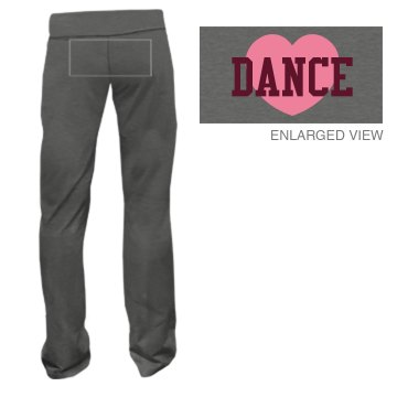 Dance Heart Sweats Junior Fit Bella Fitness Pants