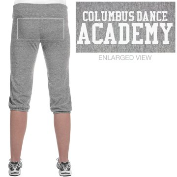 Columbus Dance Academy Junior Fit Bella French Terry Lounge Pants