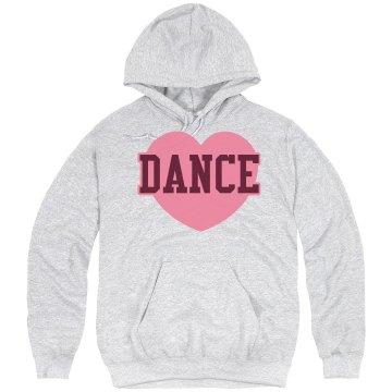 Dance Heart Hoodie Unisex Hanes Ultimate Cotton Heavyweight Hoodie