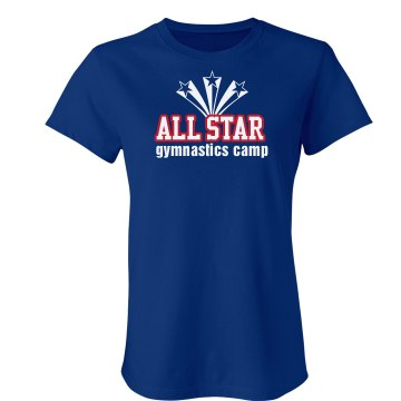 All Star Gymnastics Camp Junior Fit Bella Crewneck Jersey Tee