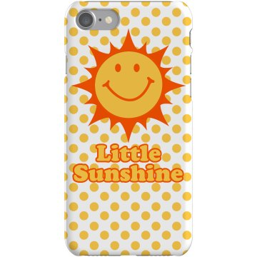 Little Sunshine Poladot Plastic iPhone 5 Case White