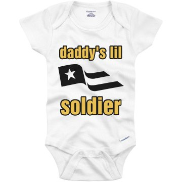 Daddy's Lil Soldier Infant Gerber Onesies