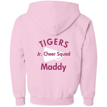 Jr. Cheerleader  Youth Bella Girl Full-Zip Hoodie