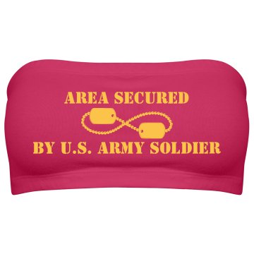 My Area is Army Secured Junior Fit Bella Sheer Longer Length Rib Tank Top