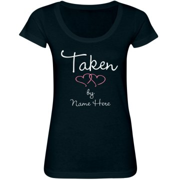 Taken! Junior Fit Bella Sheer Longer Length Scoopneck Tee