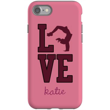 Love Cheerleading iPhone Rubber iPhone 4 & 4S Case Black