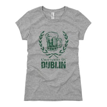 University Of Dublin Junior Fit Basic Bella Favorite Tee