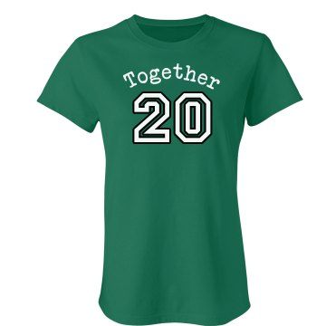 Together Since Green Tee Junior Fit American Apparel Fine Jersey Tee