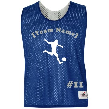 Custom Team Name  Badger Sport Lacrosse Reversible Practice Pinnie