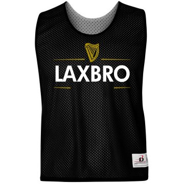 Guinness Lax Bro Badger Sport Lacrosse Reversible Practice Pinnie