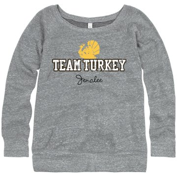 Team Turkey Sweatshirt Junior Fit Bella Triblend Slouchy Wideneck Sweatshirt