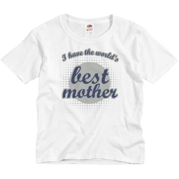 Word's Best Mother Youth Anvil 3/4 Sleeve Raglan Baseball Tee