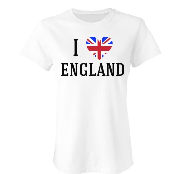 I Heart England Junior Fit Bella Sheer Longer Length Rib Tee