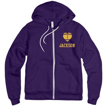 Player Number Zip Up Unisex Gildan Heavy Blend Full Zip Hoodie
