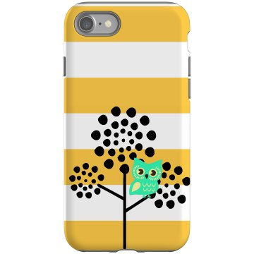 Owl In A Tree iPhone Case Rubber iPhone 4 & 4S Case Black