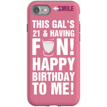 21st Birthday Rubber iPhone 4 & 4S Case Black
