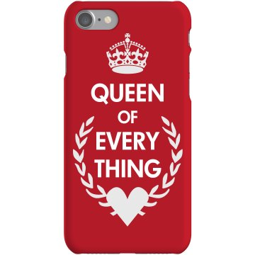 Queen Of Everything Case Rubber iPhone 4 & 4S Case White