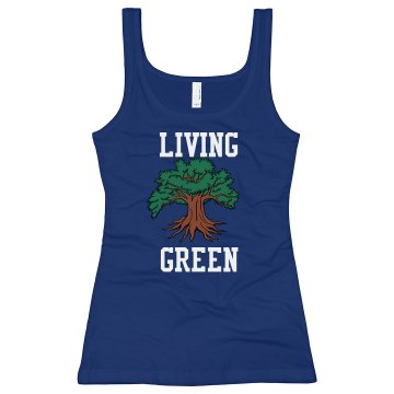 Living Green Junior Fit Bella Longer Length 1x1 Rib Tank Top