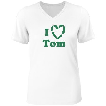 I Recycled Tom Misses Relaxed Fit Anvil V-Neck Tee