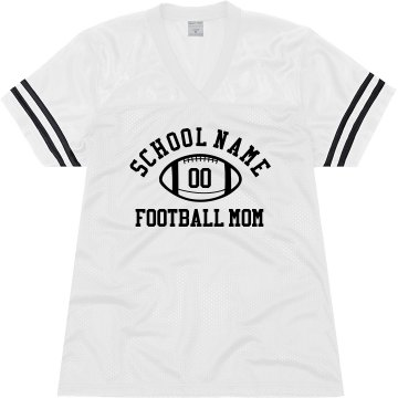 Football Mom Template Junior Fit Soffe Mesh Football Jersey