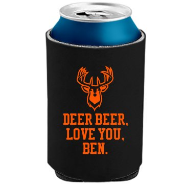 Deer Beer, I Love You The Official KOOZIE Can Kooler