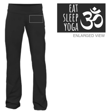Eat Sleep Yoga Junior Fit Bella Fitness Pants