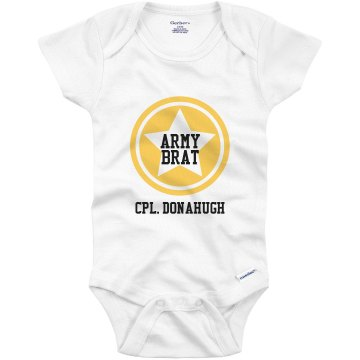 Army Brat Onesie Infant Bella Baby Long Sleeve Thermal Creeper