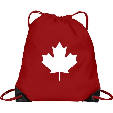 Canada Pride Port & Company Drawstring Cinch Bag