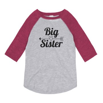 Big Sister - Rhinestones Youth Gildan Heavy Cotton Crew Neck Tee