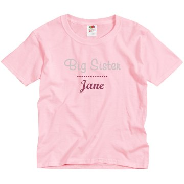 Rhinestone Name Youth Basic Gildan Ultra Cotton Crew Neck Tee