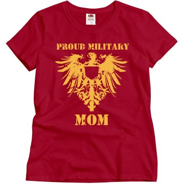 Marine Mom: Distressed Misses Relaxed Fit Gildan Ultra Cotton Tee