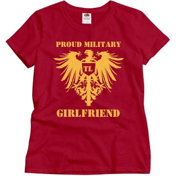 Proud Marine Girlfriend Misses Relaxed Fit Gildan Heavy Cotton Tee
