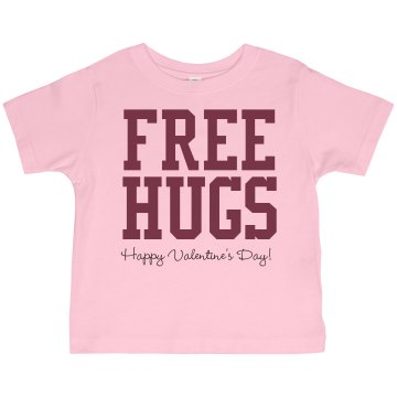 Free Hugs Toddler Gildan Ultra Cotton Crew Neck Tee