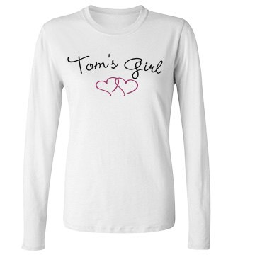 Tom's Girl Junior Fit Bella Long Sleeve Crewneck Jersey Tee