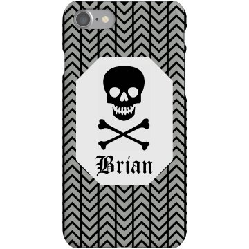 Skull iPhone Case Plastic iPhone 5 Case White